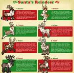 Santa's Reindeer by celesse