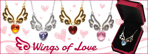 Wings of Love Necklaces by celesse