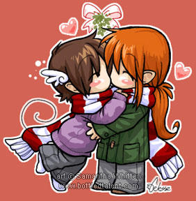 Chibi kisses by celesse on DeviantArt