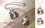 Maneki Neko Enamel Pin and Necklace