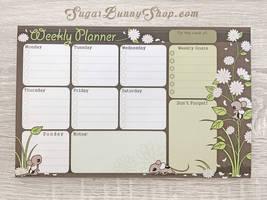 Spring Mausu Weekly Planner by celesse