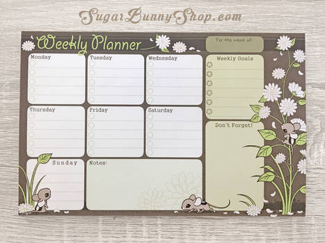Spring Mausu Weekly Planner