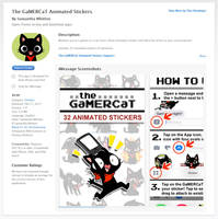 GaMERCaT Stickers for iMessage by celesse