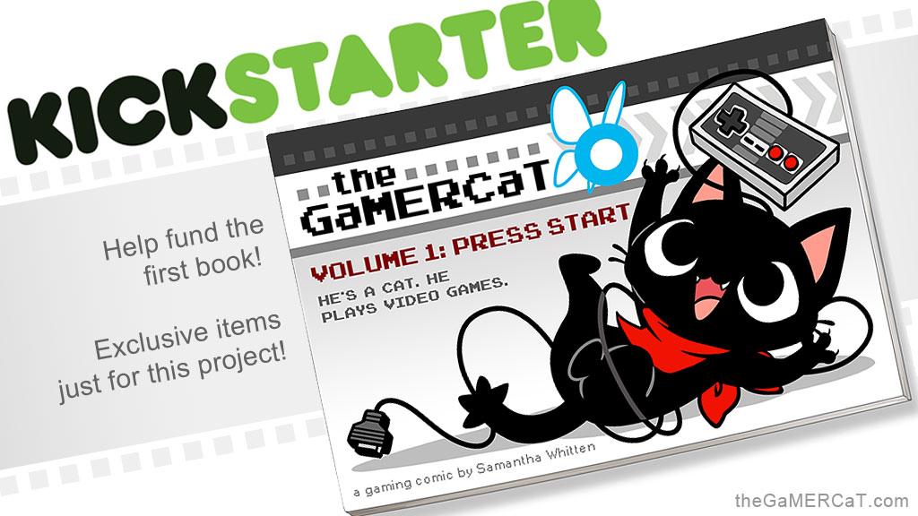 The GaMERCaT Volume 1 Book Kickstarter ENDING SOON by celesse