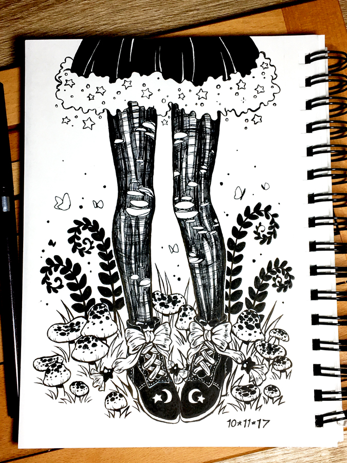 Inktober 2017 Day 11 - Run (in stockings) by celesse
