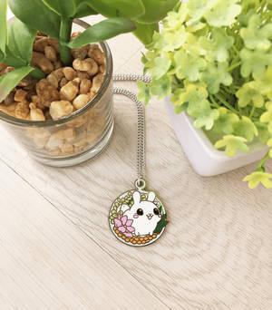 Puddle Bunny Terrarium Necklace