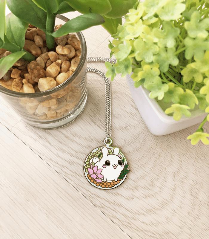 Puddle Bunny Terrarium Necklace by celesse