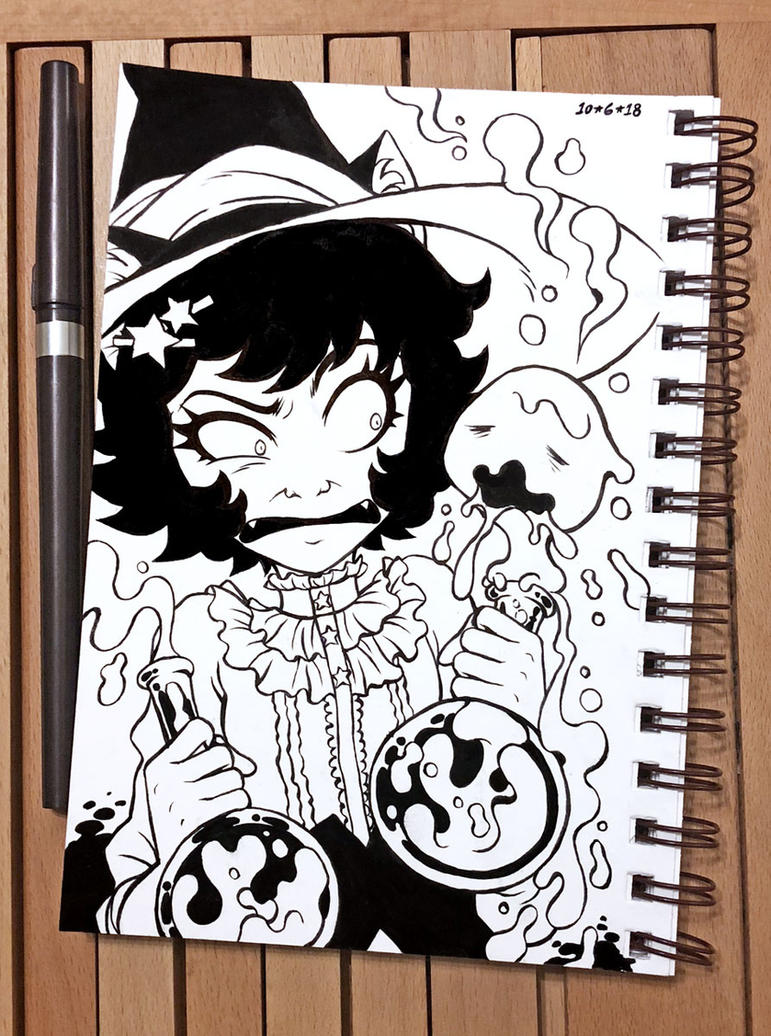 Inktober 2018 Day 6 - Drooling by celesse