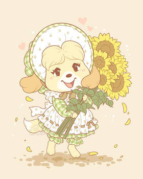 Sunflower Pup