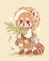 Bonny Red Panda by celesse