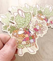 Bonny Bunny Vinyl Stickers by celesse
