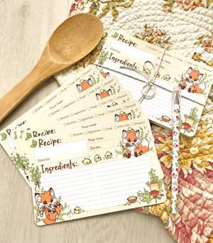 Doki Fox Recipe Cards