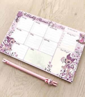 Lavendeer Weekly Planner Notepad