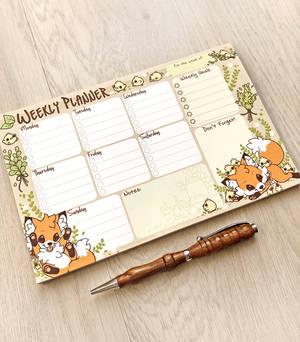Doki Fox Weekly Planner Notepad
