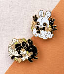 Bew Bunny and Spirit of Autumn Enamel Pins