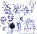 More pen doodles
