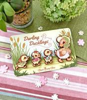 Darling Ducklings Wood Pins