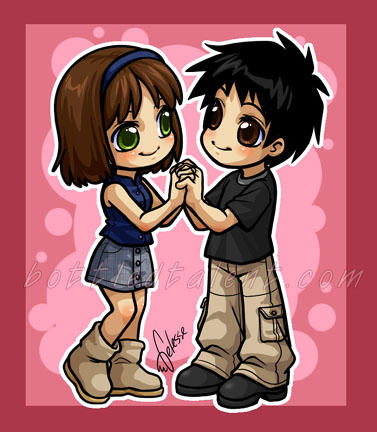 draw chibi anime Cute cartoon girl boy characters funny people pictures