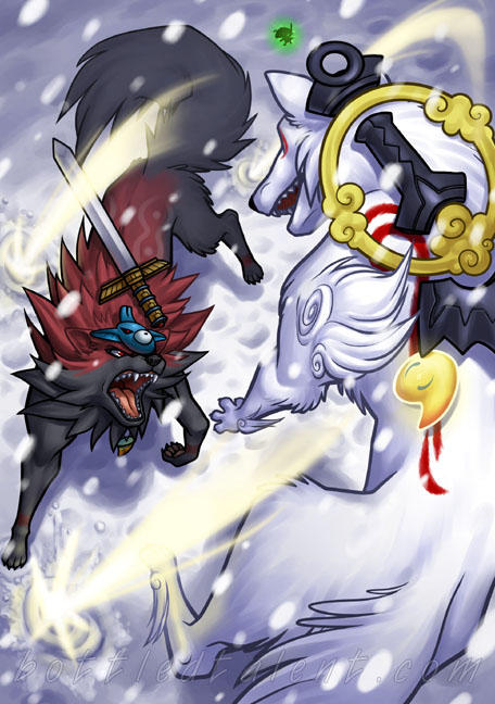 Wolf Fight by celesse