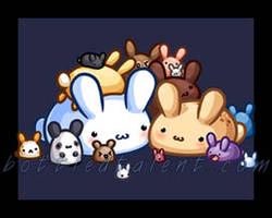 Puddle Bunnies by celesse