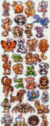 Fifty Cartoon Animal Tattoos by celesse