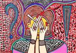 Feminist art paintings by Mirit Ben-Nun