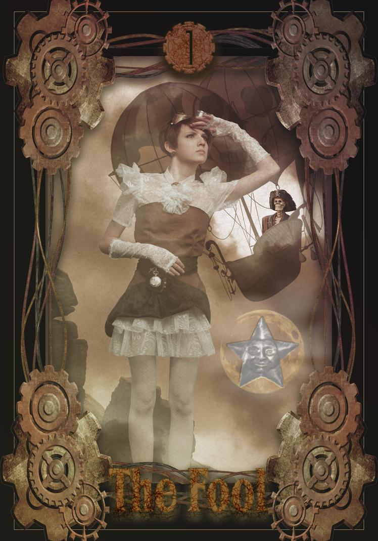 The-Fool-Steampunk-Tarot by randomxinwonderland