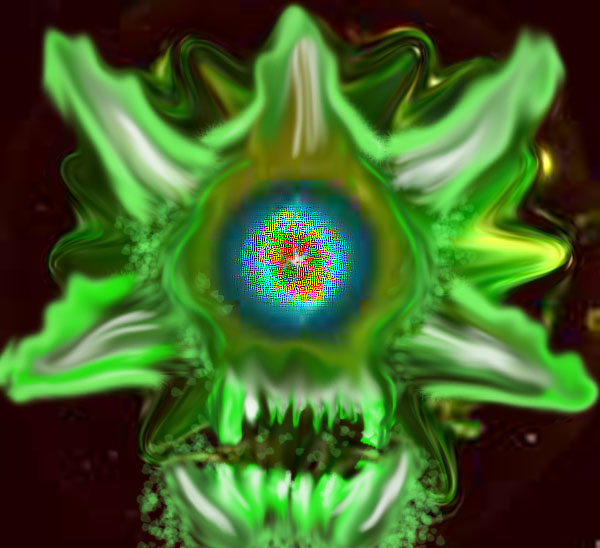 Green flame skull by JoeMac18 on DeviantArt