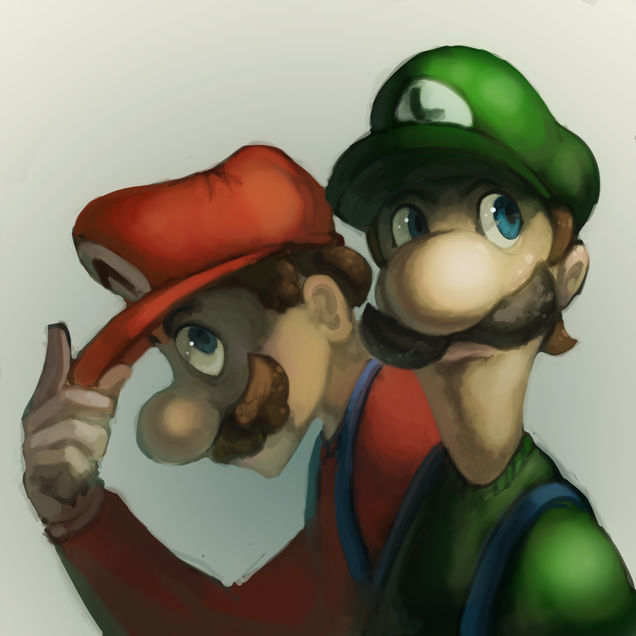 The Brothers Mario by fluxmage