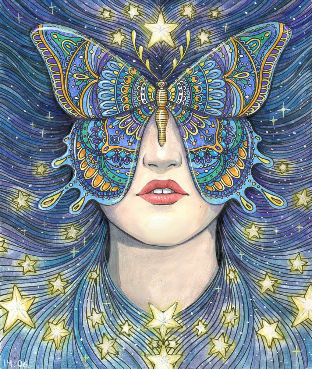 Hanna Karlzon Star butterfly by Juli556