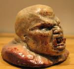 Quake gibbed Ogre head