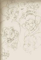 Clowngirl Heads by Anymouse-68