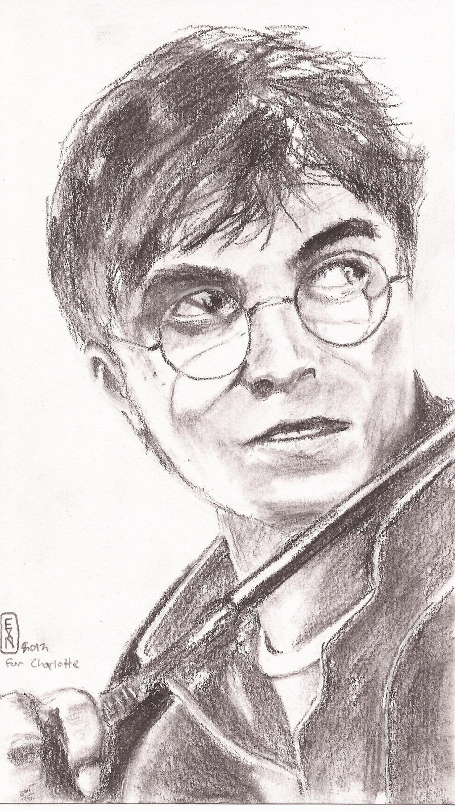 Harry Potter Charcoal Portrait by IvurNave