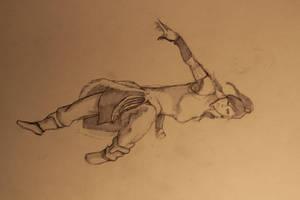 Korra Sketch by IvurNave