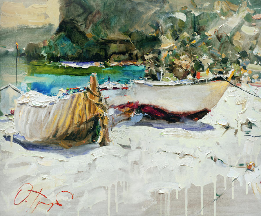 Boats of catalonia by olegtrofimoff on deviantart for Artiste peintre catalan