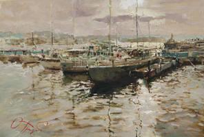 Silver Quay by OlegTrofimoff