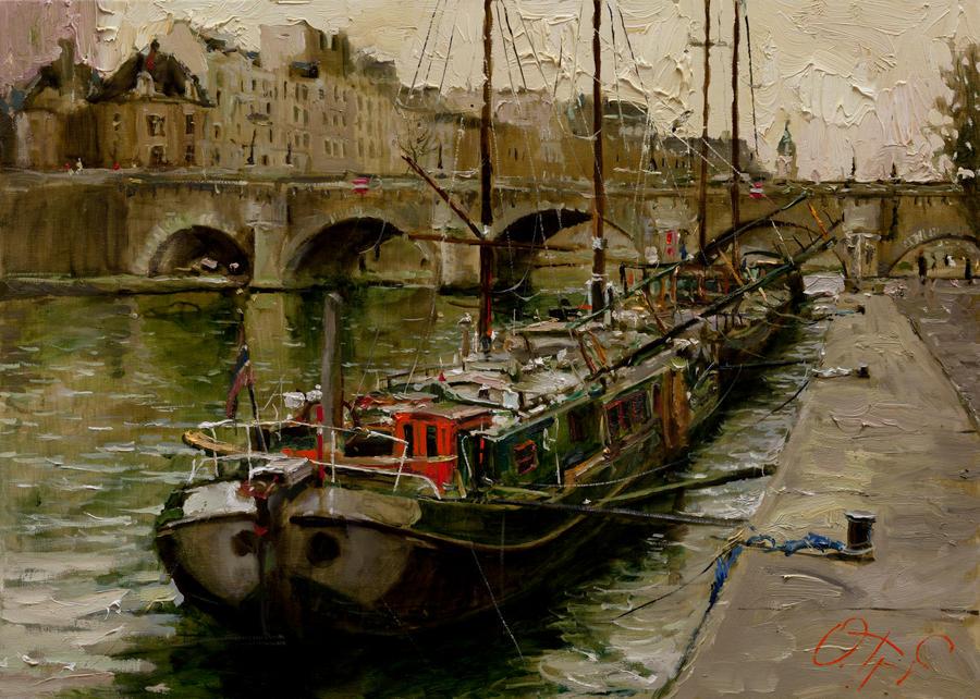 On the Banks of the Seine by OlegTrofimoff