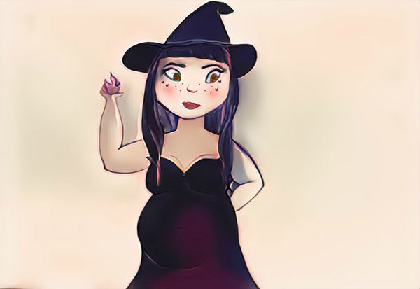 Chubby Witch (color) by PandarenBabe