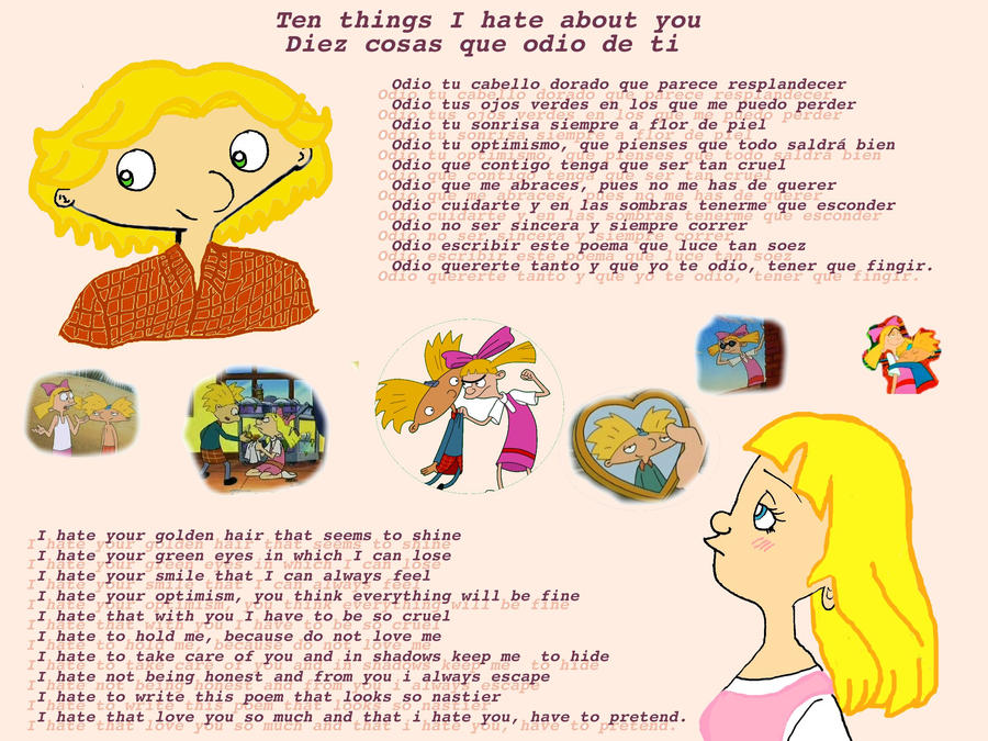 Ten Things I Hate About You Poem: Ten Things I Hate About You By Rei-Hikaru On DeviantArt