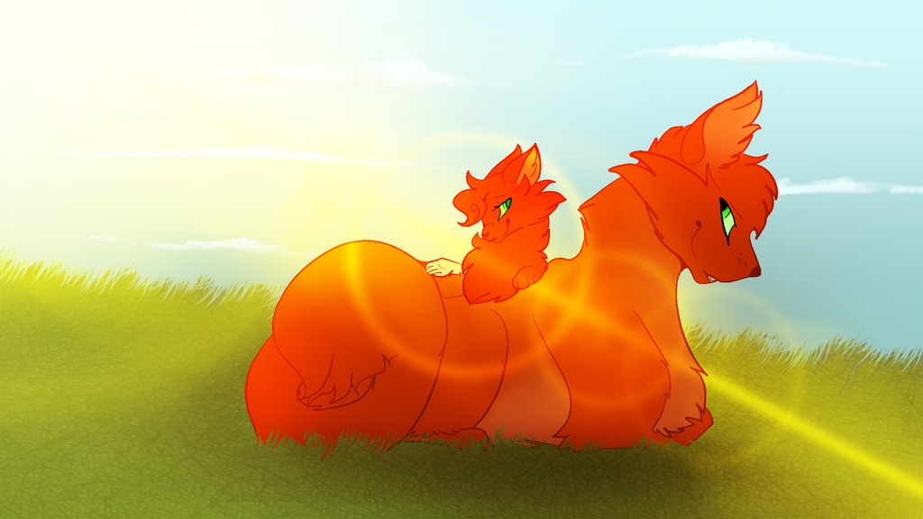 Fireheart and Squirrelpaw by Solar-Frost