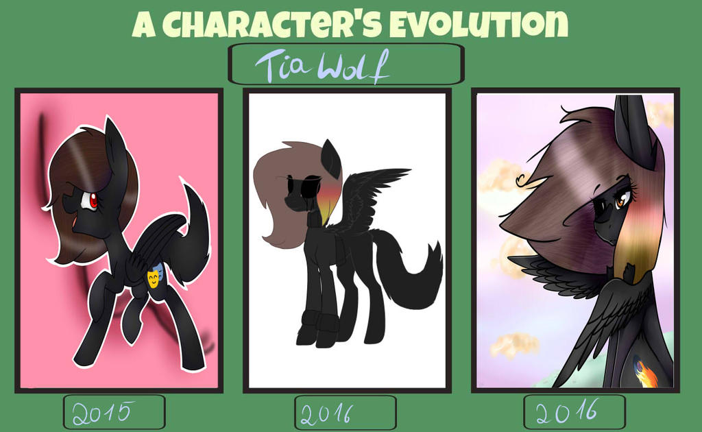 A character's evolution by FireFox12345678910