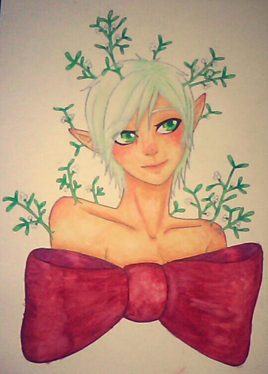 Mistletoe by aochou-hime