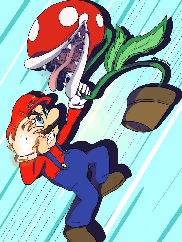 Mario vs Paranah Plant by DaFunB0XMaN