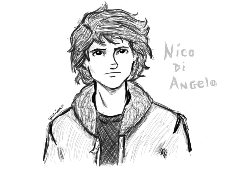 Nico Di Angelo by odairwho on DeviantArt
