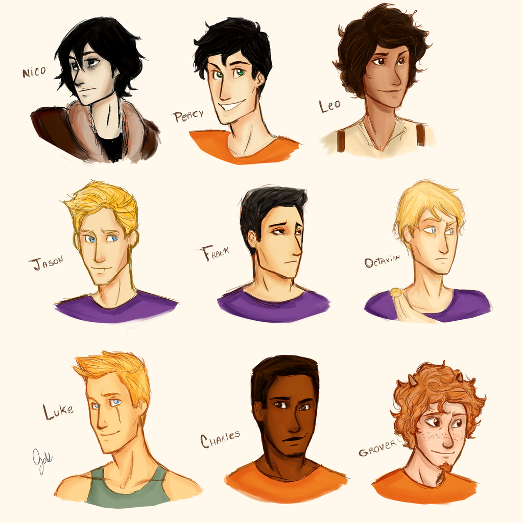 Heroes of olympus: the boys by whenpopsucks