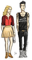 Girly!Annabeth and Punk!Percy by odairwho