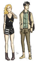 Punk!Annabeth and Preppy!Percy by odairwho