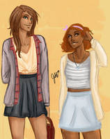 Piper and Hazel by odairwho