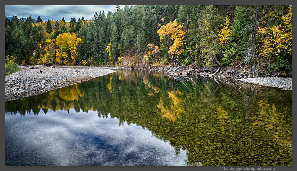 Goat River Reflection 1 by kootenayphotos