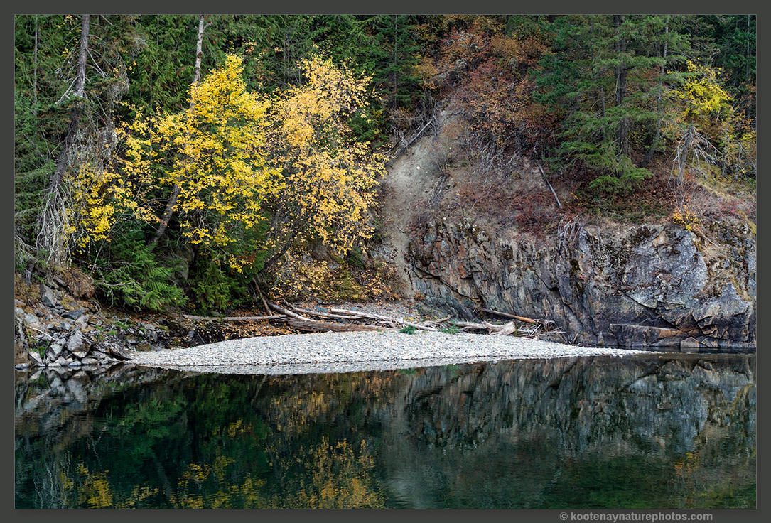 Goat River Reflection 2 by kootenayphotos